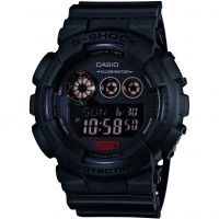 Herren Casio G-Shock Military Black Alarm Chronograph Watch GD-120MB-1ER