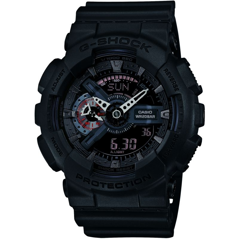Casio G-Shock Military Black Herrkronograf Svart GA-110MB-1AER