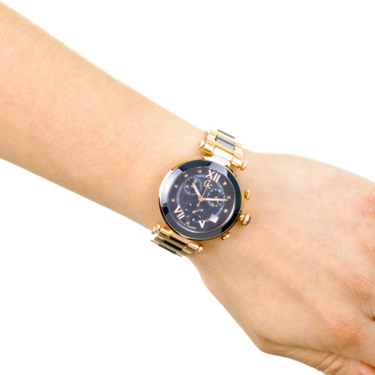 femme gc femme chic chronographe montre y05009m7. Black Bedroom Furniture Sets. Home Design Ideas