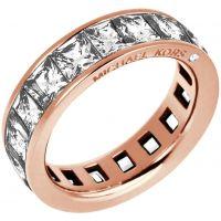 Damen Michael Kors PVD Rosa plating Park Avenue Barrel Ring Größe O