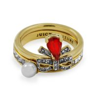 Damen Juicy Couture PVD Gold überzogen Ring