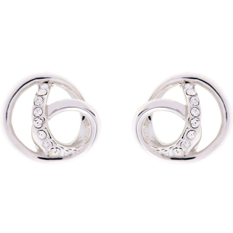 Ladies Karen Millen PVD Silver Plated Earrings KMJ878-01-02
