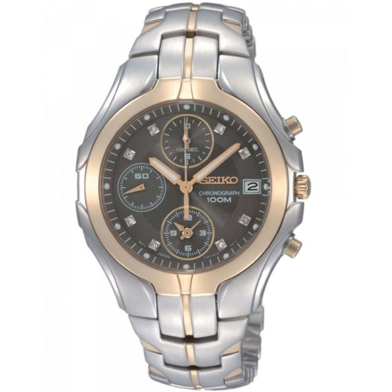Mens Seiko Chronograph Watch SNDZ24P9