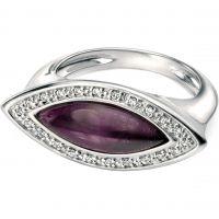 Damen Fiorelli Sterlingsilber & Amethyst Ring