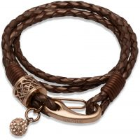 Ladies Unique PVD rose plating Leather Bracelet B218CO/19CM