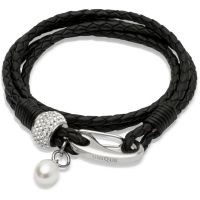 Biżuteria damska Unique & Co Leather Bracelet B221BL/19CM
