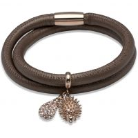 Biżuteria damska Unique & Co Leather Bracelet B236BR/19CM
