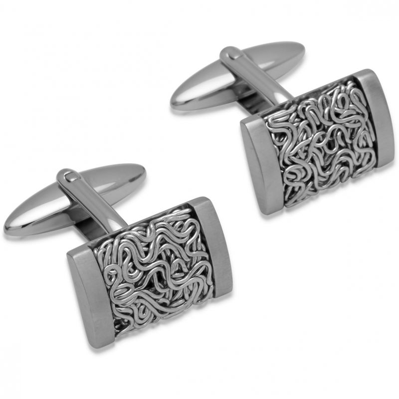 Mens Unique & Co Stainless Steel Cufflinks QC-146