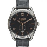 Nixon The C45 Leather Herenhorloge Grijs A465-2145