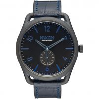 Nixon The C45 Leather Herenhorloge Blauw A465-2153