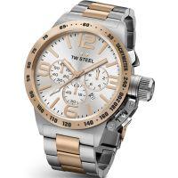 Herren TW Steel Canteen Chronograph 45mm Watch CB0123
