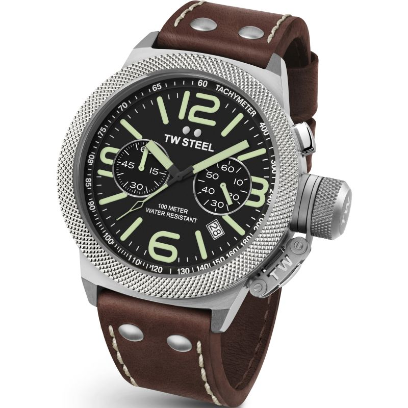 Mens TW Steel Canteen Chronograph 45mm Watch CS0023