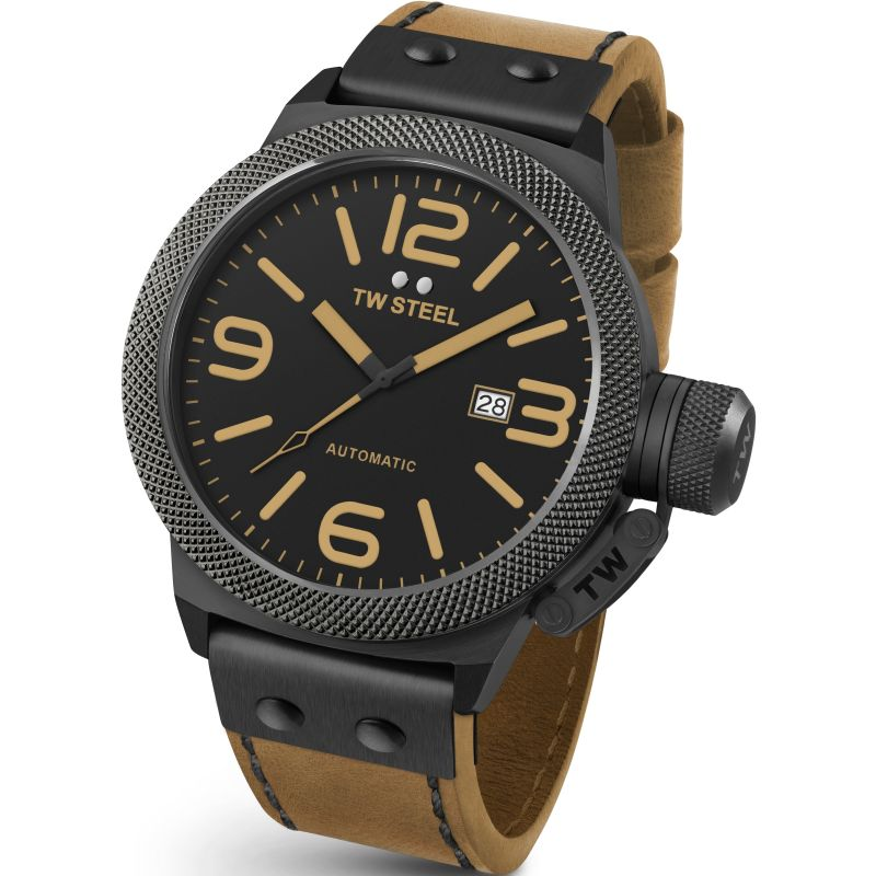 Mens TW Steel Canteen Automatic 45mm Watch CS0045