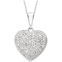 femme Jewellery Essentials Diamond Heart Pendant Watch AJ-12142519