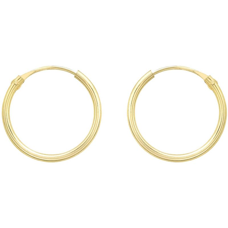 Ladies Essentials 9ct Gold 13mm Hoop Earrings AJ-15030468