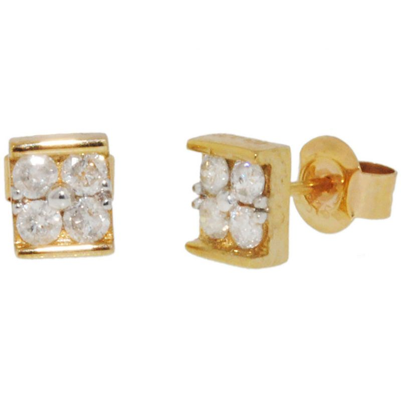 Ladies Essentials 9ct Gold Diamond Stud Earrings AJ-12152357
