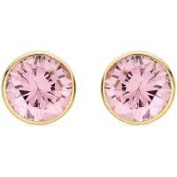Damen Essentials 9ct Gold Pink würfelförmig Zirconia Stud Ohrringe