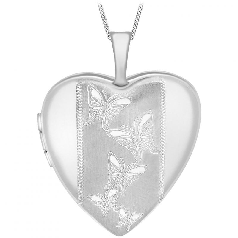 Ladies Essentials 9ct White Gold Heart Locket AJ-14010032