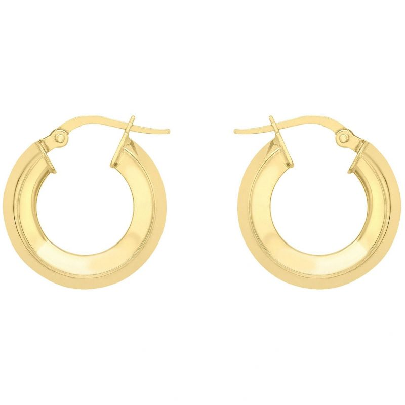 Ladies Essentials 9ct Gold Small Hoop Earrings AJ-15030430
