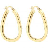 Ladies Essentials 9ct Gold Square Hoop Earrings AJ-15030459