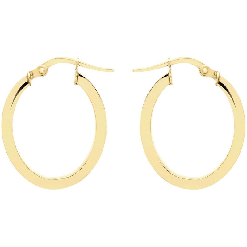 Ladies Essentials 9ct Gold Hoop Earrings AJ-15030450
