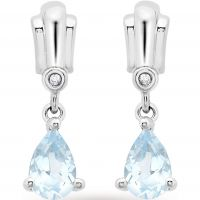 femme Jewellery Essentials Diamond and Blue Topaz Earrings Watch AJ-12152394