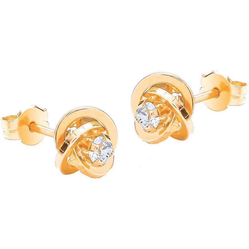 Ladies Essentials 9ct Rose Gold Knot Earrings AJ-12152335