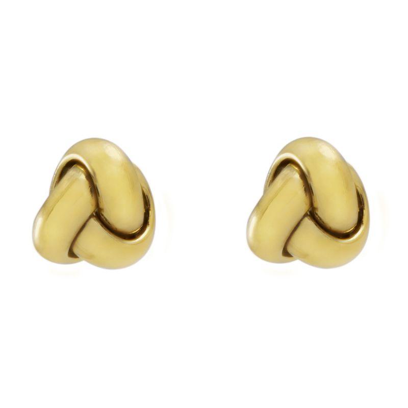Ladies Essentials 9ct Gold Italain Small Knot Stud Earrings AJ-15030379