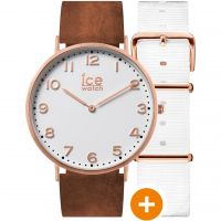 Ice-Watch Ice City 36mm Herenhorloge Bruin 001377