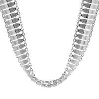 Ladies Essentials Sterling Silver Multi Link Necklace