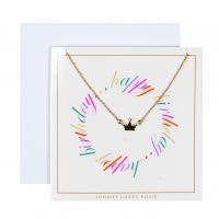 Biżuteria damska Johnny Loves Rosie Jewellery Birthday Wishes Crown Necklace Gift Card JLR-GCARD-HBDAY