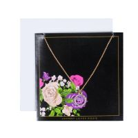 Ladies Johnny Loves Rosie Base metal Circle Pendant Floral Gift Card
