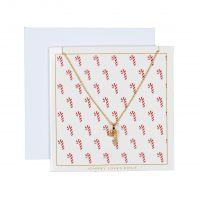 Johnny Loves Rosie Jewellery Candy Cane Necklace Gift Card JEWEL