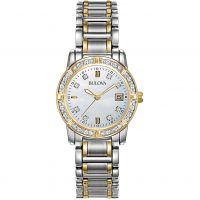Bulova Diamond Gallery Dameshorloge Tweetonig 98W107