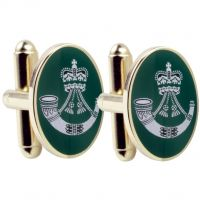 Mens Smart Turnout Cufflinks PVD Gold plated Military RF/40-TB