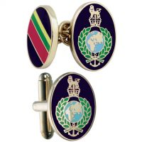 Mens Smart Turnout Cufflinks PVD Gold plated Military RM/40-TB