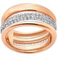 Damen Swarovski PVD Rosa plating Größe Q Exact Ring 58