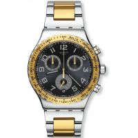 Herren Swatch Golden Youth Chronograph Watch YVS427G