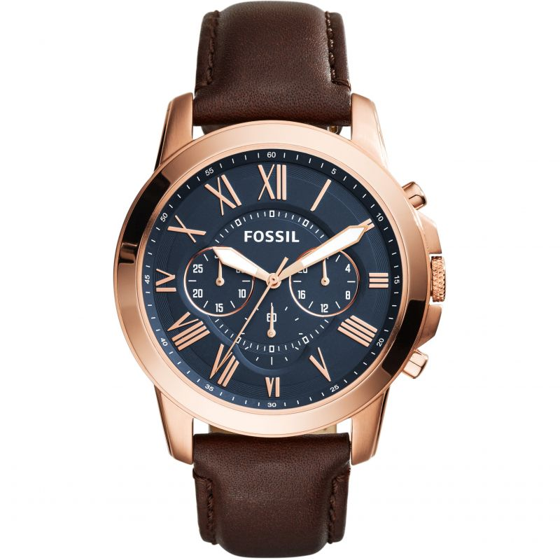 homme Fossil Grant Chronograph Watch FS5068