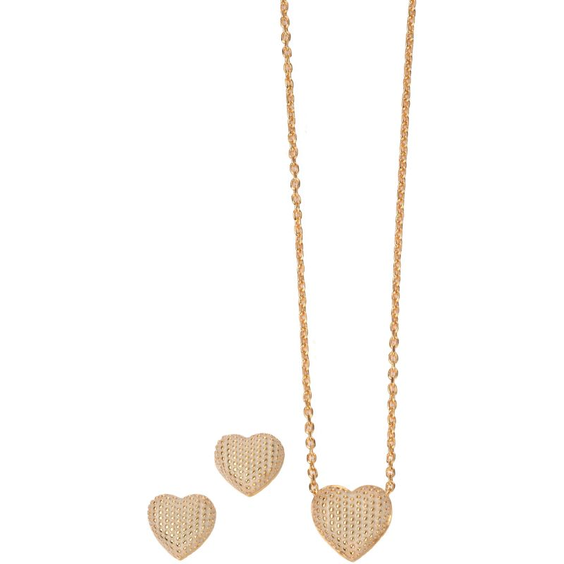 Ladies Fiorelli PVD Gold plated Necklace & Earring Set Z1007