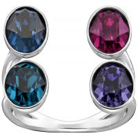 Ladies Swarovski Stainless Steel EMINENCE RING SIZE N