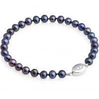 Damen Jersey Perle Sterlingsilber Peacock Freshwater Perle Armband