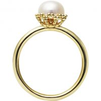 Damen Jersey Perle Sterlingsilber Emma-Kate Freshwater Perle Ring Größe N