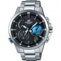 Herren Casio Edifice Zeit Traveller Bluetooth hybrid Smartwatch Wecker Chronograf solarbetrieben Uhren