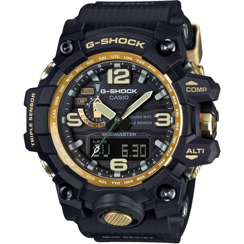 Herren Casio G-Shock Premium Mudmaster Compass Black x Gold Alarm Chronograph Radio Controlled Watch GWG-1000GB-1AER