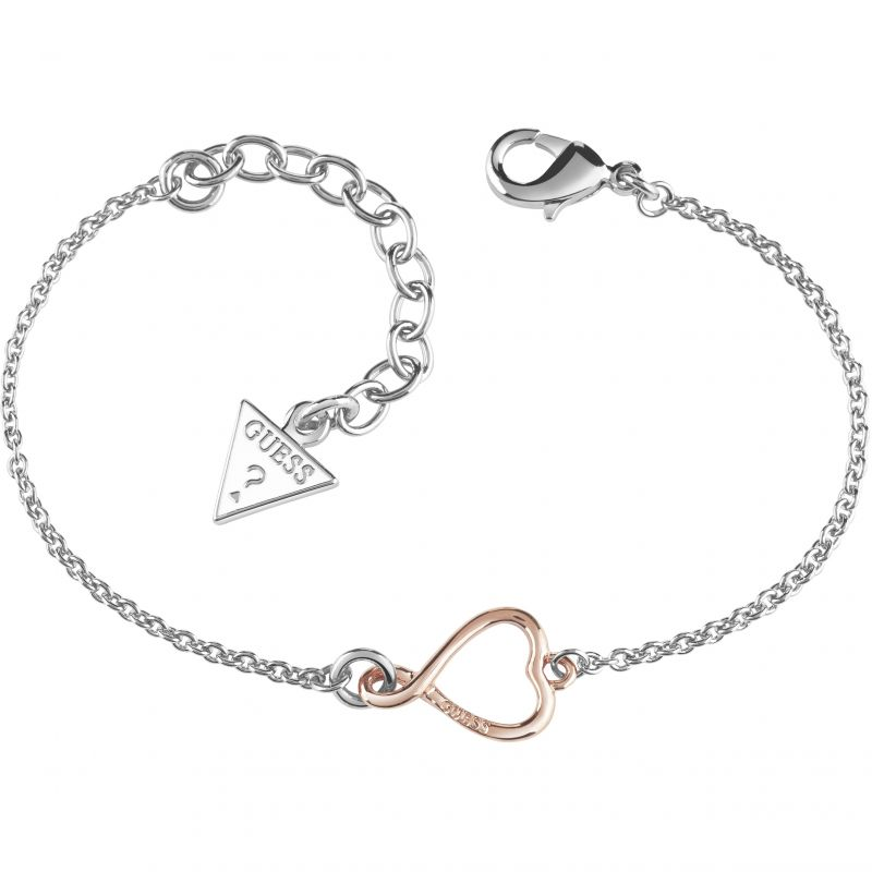 Ladies Guess Rhodium Plated Amour Bracelet UBB61052-L
