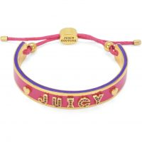 Ladies Juicy Couture PVD Gold plated Layered In Couture Juicy Heart Enamel & Cord