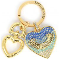 Juicy Couture Jewellery Blue Pave Heart Keyfob JEWEL