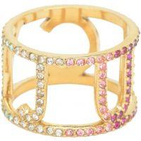 Damen Juicy Couture PVD Gold überzogen Größe L.5 charakteristisch Juicy Regenbogenfarben Ring