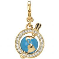 Ladies Juicy Couture PVD Gold plated Little Luxuries Globe Charm